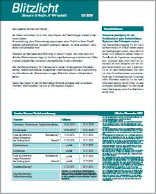 aktuelle Ausgabe des Infoblatt Blitzlicht der DATEV eG